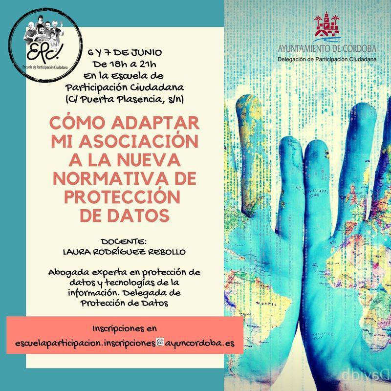 Taller: Cómo adaptar mi asociación a la nueva normativa de protección de datos @ Escuela de Participación Ciudadana