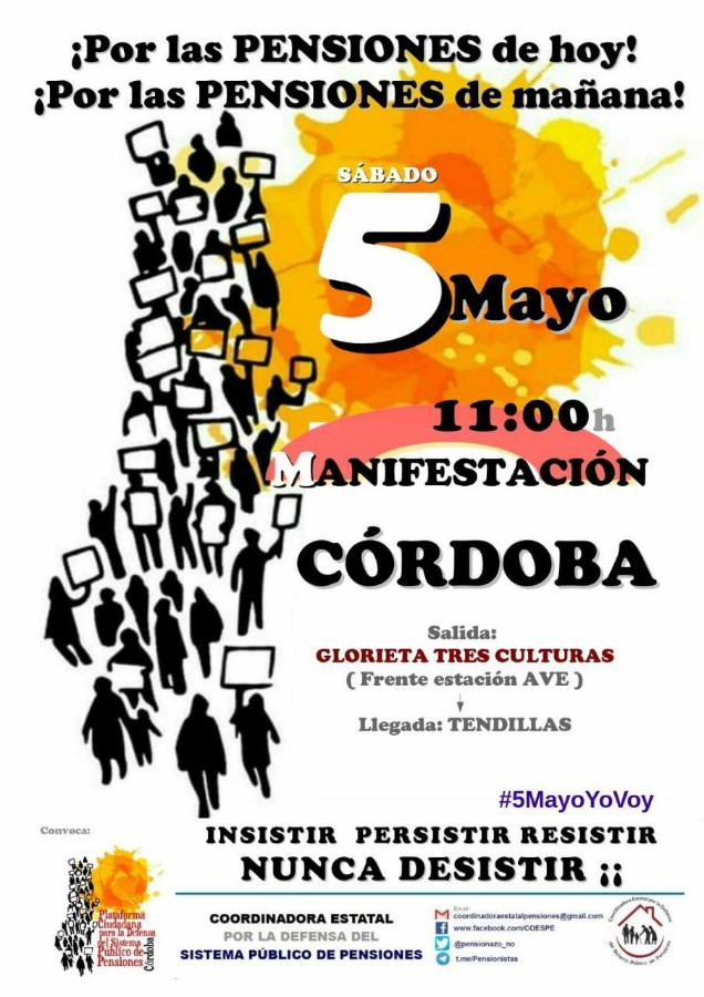 Manifestación por las pensiones @ Glorieta de las Tres Culturas