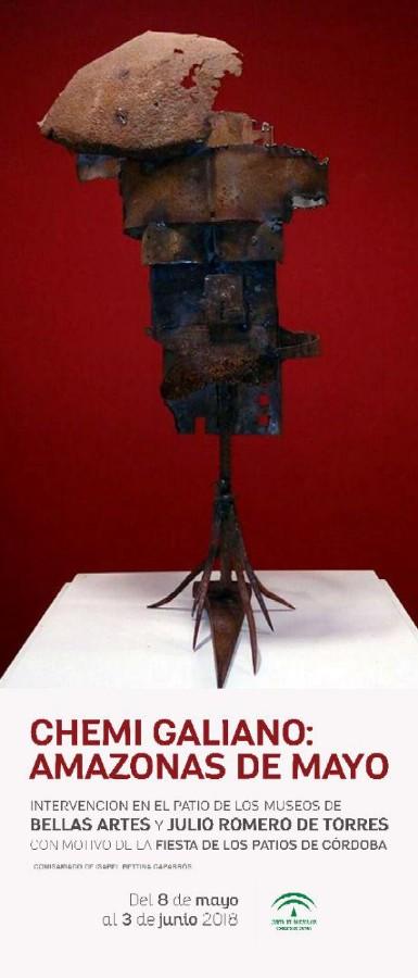 Chemi Galiano: Amazonas de mayo. Intervención artística @ Patios de los museos de Bellas Artes y Julio Romero de Torres