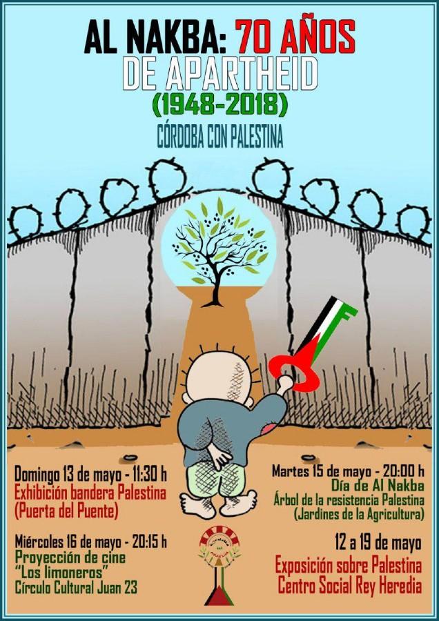 Al Nakba: 70 años de apartheid (1948-2018), de Córdoba con Palestina