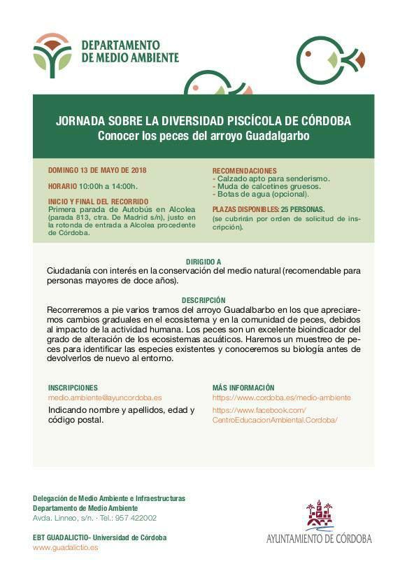 Jornada sobre la diversidad piscícola de Córdoba @ Información en Delegación de Medio Ambiente