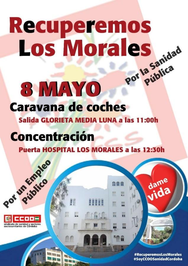 Recuperemos Los Morales. Concentración y caravana de coches @ Glorieta Media Luna y Hospital Los Morales (ver cartel)