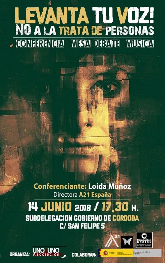 Levanta tu voz! No a la trata de personas! Conferencia, debate, música @ Subdelegación de Gobierno de la Junta de Andalucía