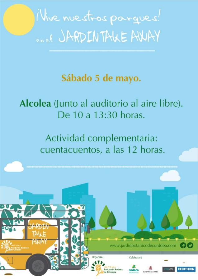Autobús Jardín Take Away en Alcolea. Con Cuentacuentos. Jardín Botánico @ Junto al auditorio al aire libre